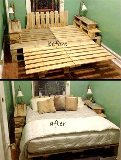 pallet bed frame plans 1000 ideas about pallet bed frames on pinterest bed