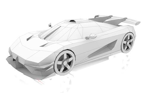 koenigsegg ghost car papercraftsquare com paper craft koenigsegg one 1