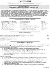 Banking Resumes Sles by Top Banking Resume Templates Sles