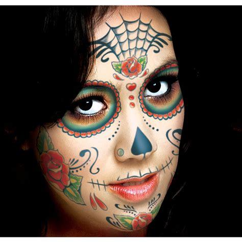 skull face tattoo sugar skull kit city canada