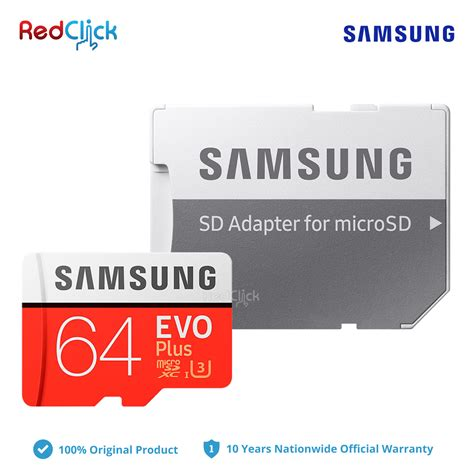 Samsung Evo Plus Microsdxc Uhs I Card With Adapter 64gb 100mb S Merah samsung 64gb 100mb s micro sd evo plus class 10 microsdxc uhs i u3 4kuhd memory card with sd adapter
