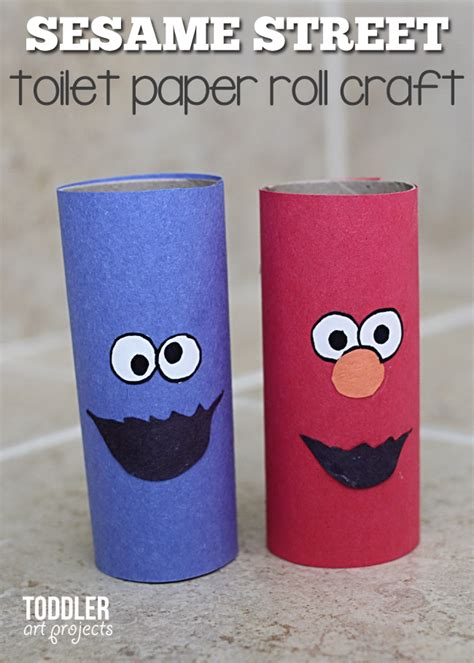 toilet paper you monster craft toilet paper roll monsters for kids elmo and cookie