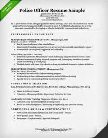 police officer resume sample amp writing guide resume genius