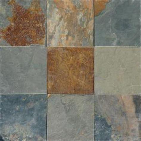 Multi Colored Floor Ms International Multi Color 12 In X 12 In Gauged Slate