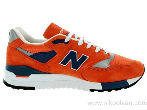 classic run shoes by new balance orange silver mens new balance 998 shoes