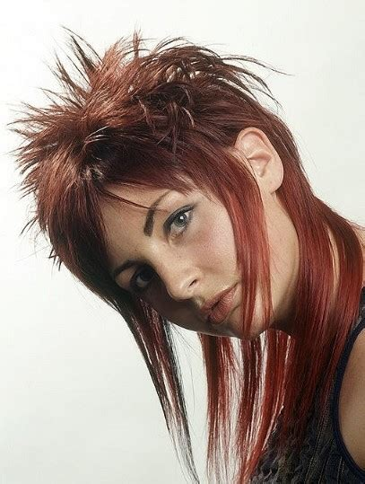 shoulder length spiky punk hair ladies hair styles punk color hairstyles with short medium length hair for