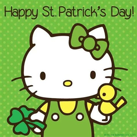 hello kitty coloring pages st patrick s day st patrick s day hello kitty pinterest