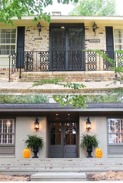 exterior brick paint before and after brick ranch exterior makeover before and after quotes