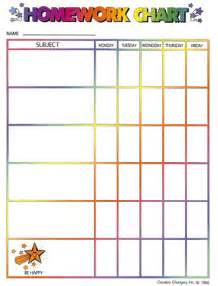 High School Assignment Sheet Template by 9 Best Images Of Middle School Homework Chart Printable