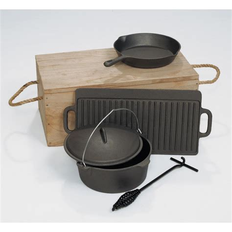 cast iron cooking 6 pc cast iron cook kit 91759 cast iron at sportsman
