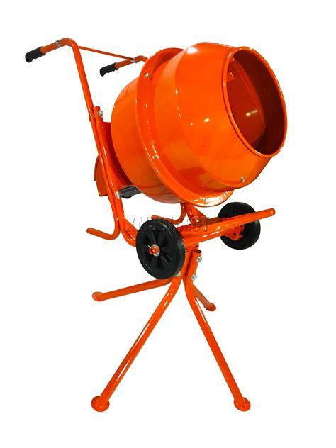 foxhunter 375w 140l drum portable electric concrete cement
