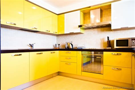 modern yellow pictures of modern yellow kitchens gallery design ideas