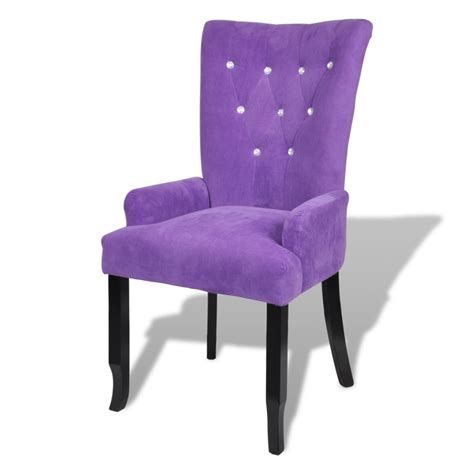 armchair purple armchair dining chair black wood velvet coated purple