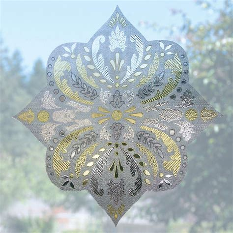 Decorative Window Film Home Depot by Artscape 12 In Medallion Decorative Window Film Accent 01
