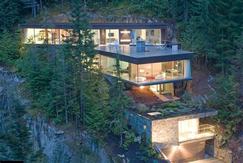 houses built on slopes modern slope house design beautiful homes blog