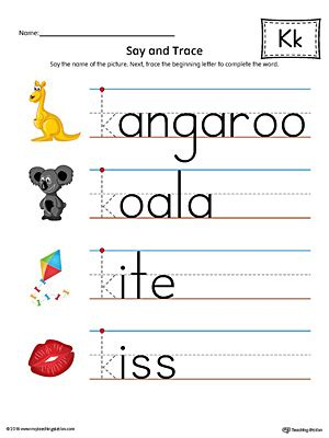 colors starting with k sort the uppercase and lowercase letter k worksheet color