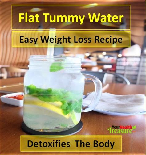 Flat Belly Detox Water Recipe by Flat Tummy Water Recipe Detox Water For Weight Loss