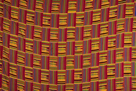 ashanti kente strip woven textile