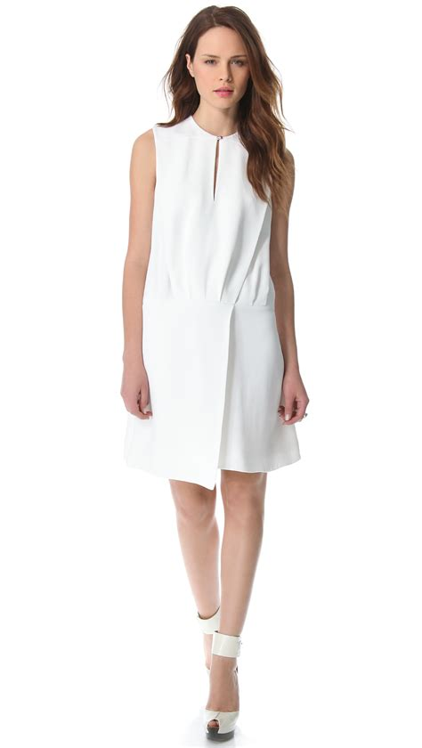 Origami Dresses For - mugler sleeveless origami dress in white lyst