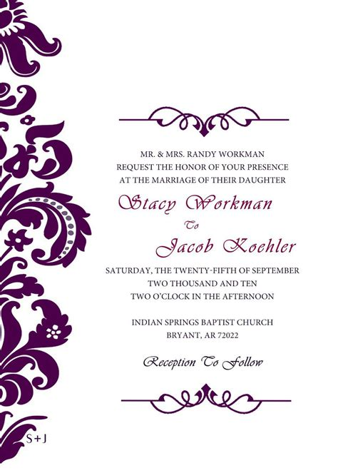 free wedding invitation card template invitation cards printing wedding invitation