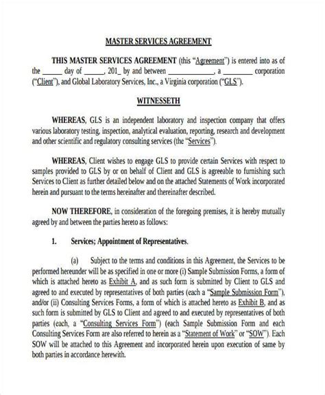 Sle Administration Agreement Forms 7 Free Documents In Word Pdf Master Services Agreement Template 2