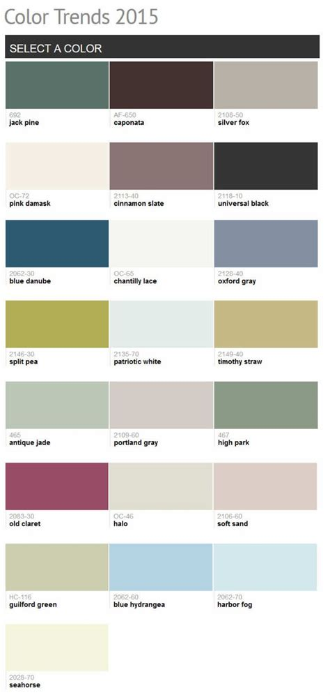 78 best images about benjamin color trends 2015 on silver foxes satin and