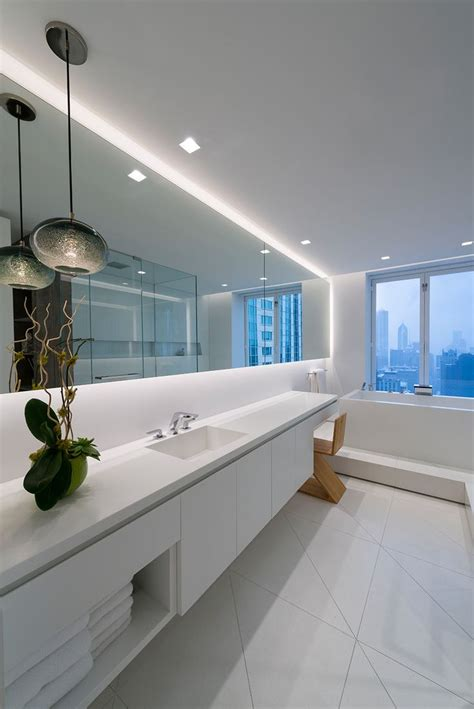led bathroom lighting ideas 8 best led strip lights in bathrooms images on pinterest