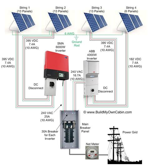 diy solar panel system wiring diagram get free image diy