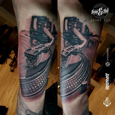 turntable tattoo jaime deleon tud certified artist