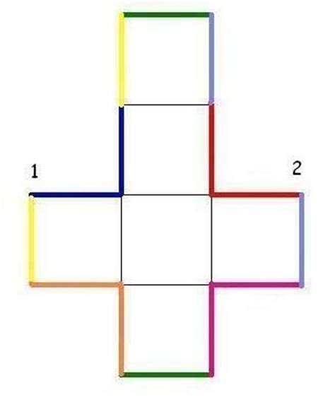 pattern for a paper cube 187 cube cut out pattern