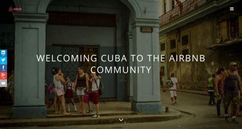 air bnb cuba airbnb c 233 l 232 bre l arriv 233 e de cuba dans sa communaut 233