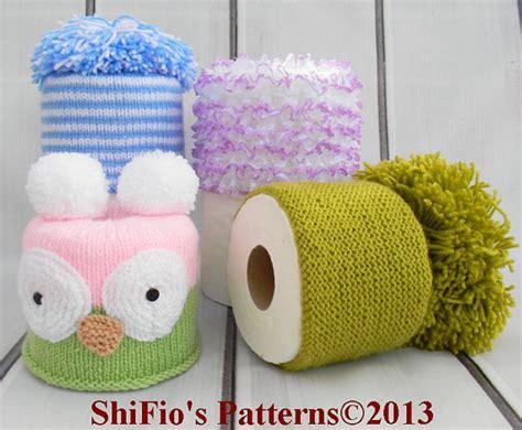 toilet roll cover knitting pattern knitting pattern for 4 toilet roll covers tissue cover topper
