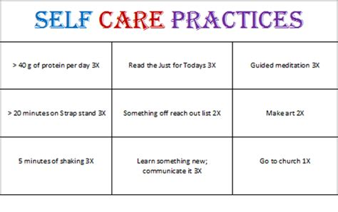 self care plan template with monsters self care bingo
