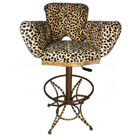 Leopard Print Stool by Leopard Print Bar Stool Drinkstuff
