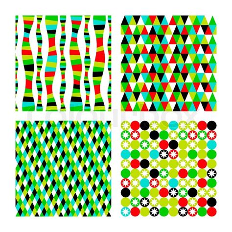 Vorlagen Grafische Muster Vektor Legen Muster Vier Geometrischen Formen Farbenmosaik Banner Geometrische