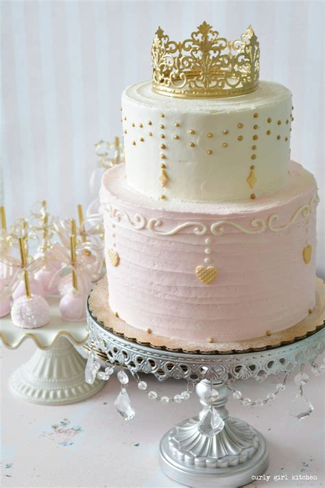 Princess Cake by Curly Kitchen Pink And Gold Princess Cake
