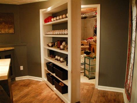 hidden storage secret bookcase door for storage closet stashvault