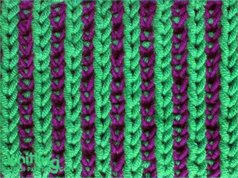 brioche knitting with two colors two color brioche stitch knitting stitch patterns