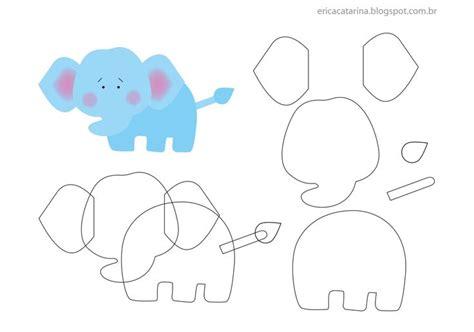 pattern for felt elephant elephant felt feltro pinterest