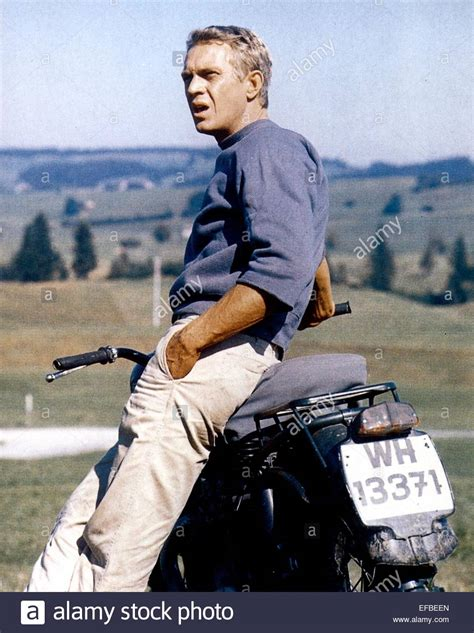 The Great Escape steve mcqueen the great escape 1963 stock photo royalty