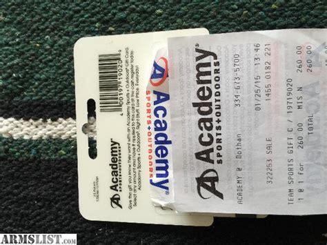 Academy Gift Card - armslist for sale 260 academy gift card
