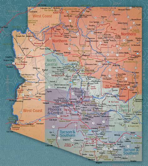 map of the of arizona map of arizona that flighty temptress adventure
