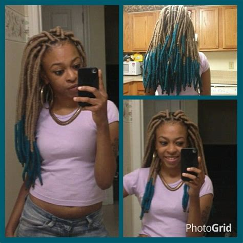 hiw to do ombre faux locs faux locs teal ombre hair hair hair pinterest