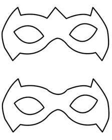 robin mask template tutorial a simple way to make a