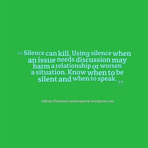 Silence Kills Quotes