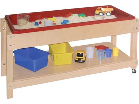 water table large wooden sand and water table with lid shelf 46x17