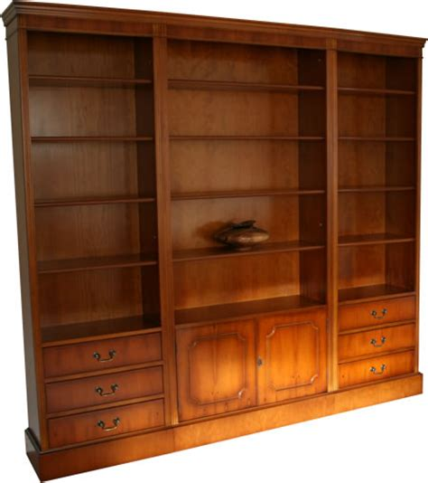 Modular Bookcases Systems quality yew and mahogany reproduction combination units a1 furniture