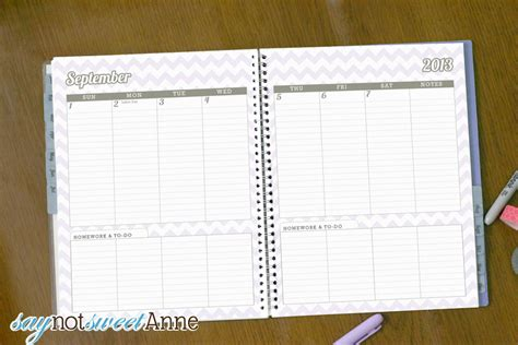 best planners for college students 6 best images of student homework planners cute planners