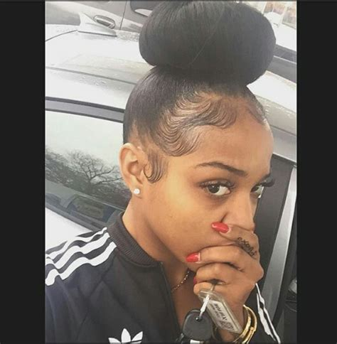 how to make a bun on thin edges before and after perfect bun and laid edges get dem edges girl