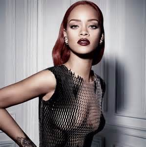 rihanna for photos rihanna smolders in mesh